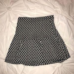 NWOT Houndstooth plaid mini skirt